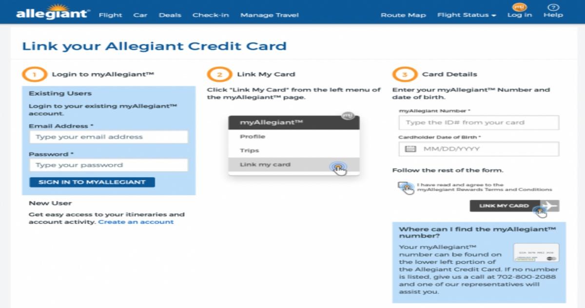 Allegiant Credit Card Login