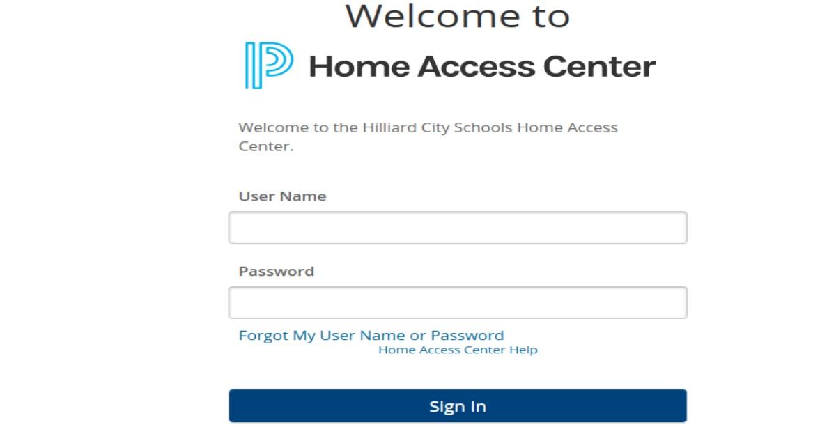 Hilliard Home Access Login