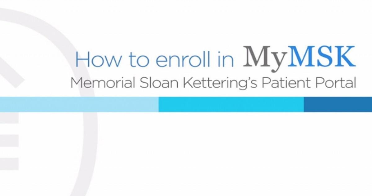Memorial Sloan Kettering Portal