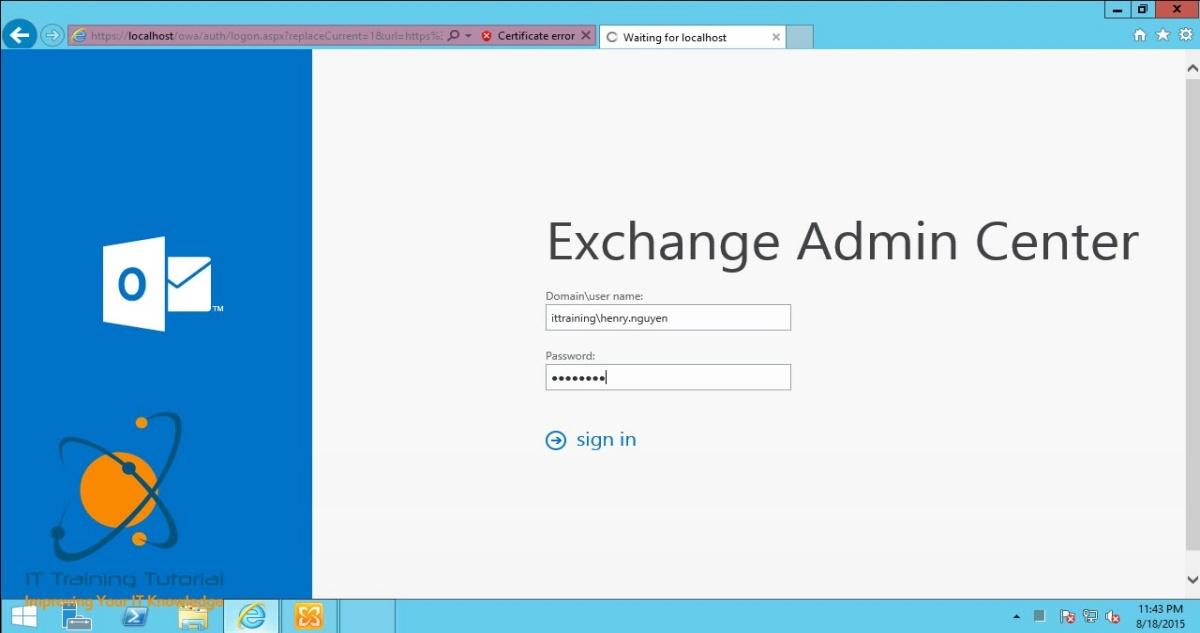 Microsoft Exchange Email Login