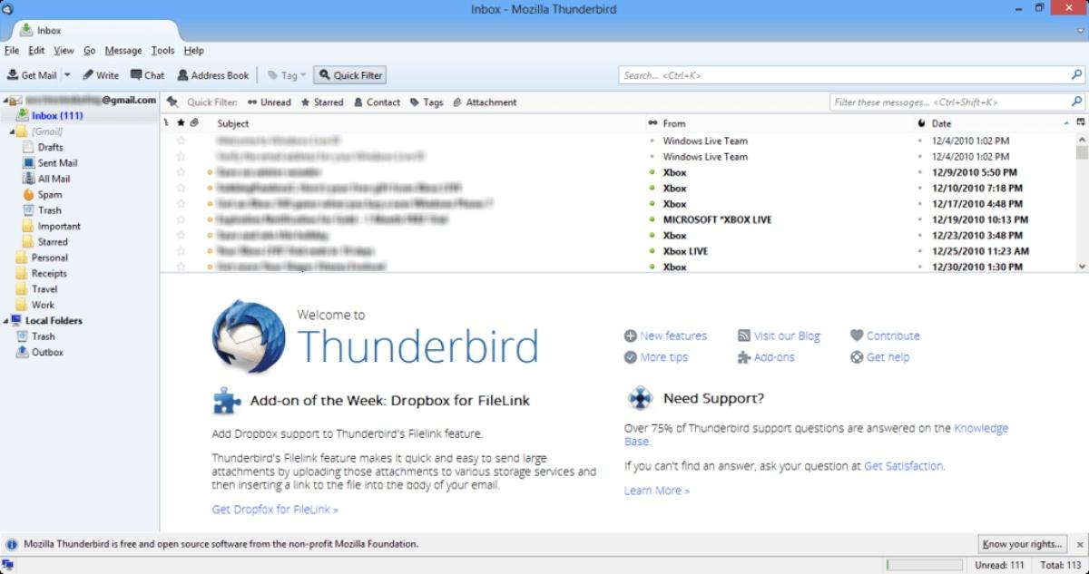 Mozilla Thunderbird Email Login