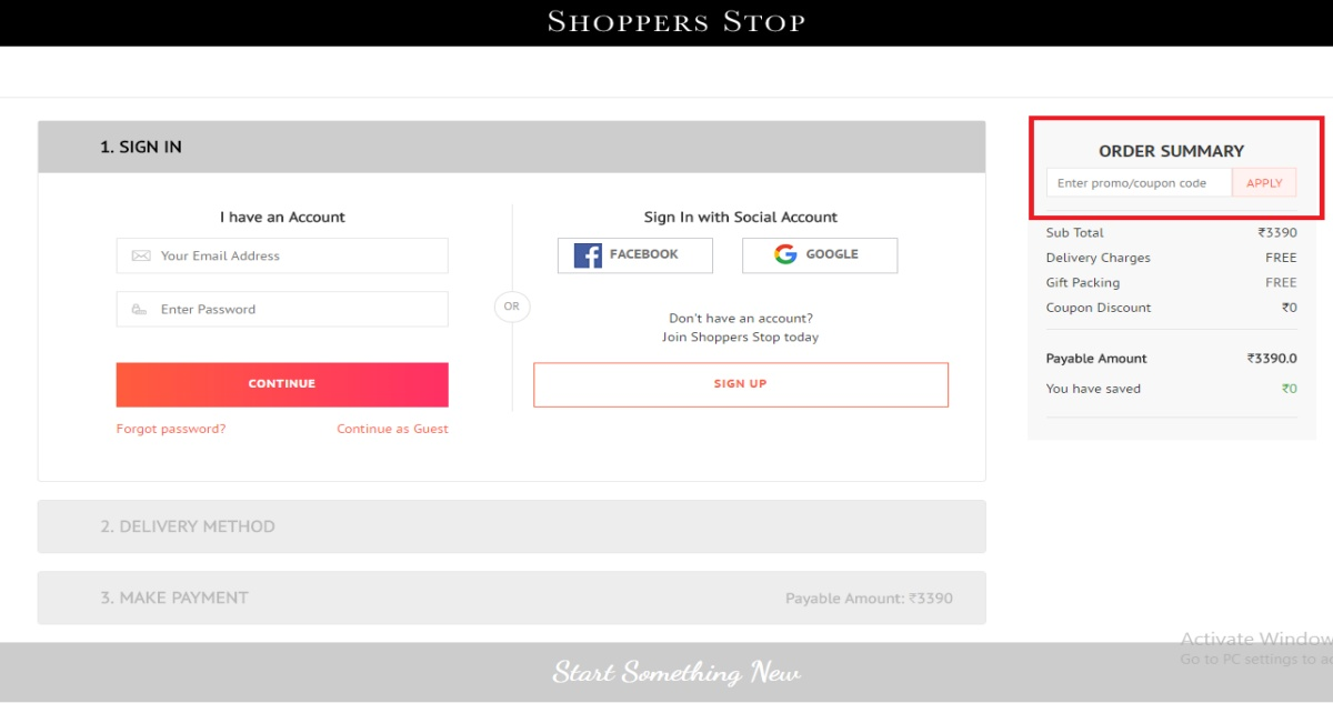 Shoppersstop Login