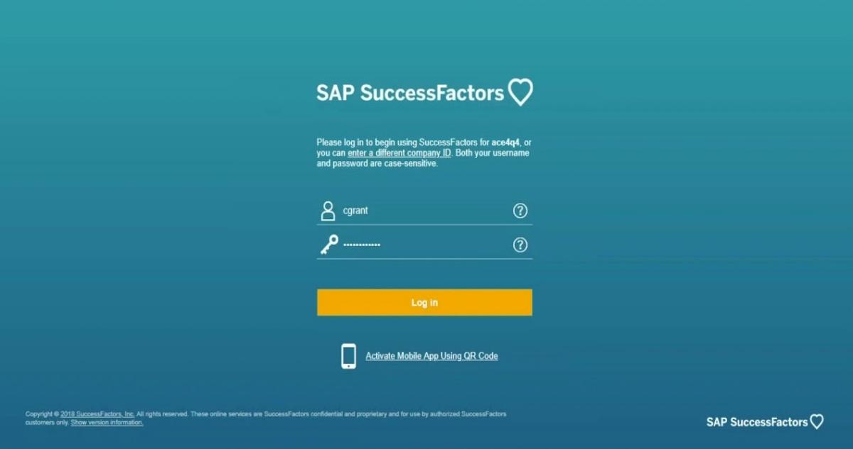 Success Factor Login