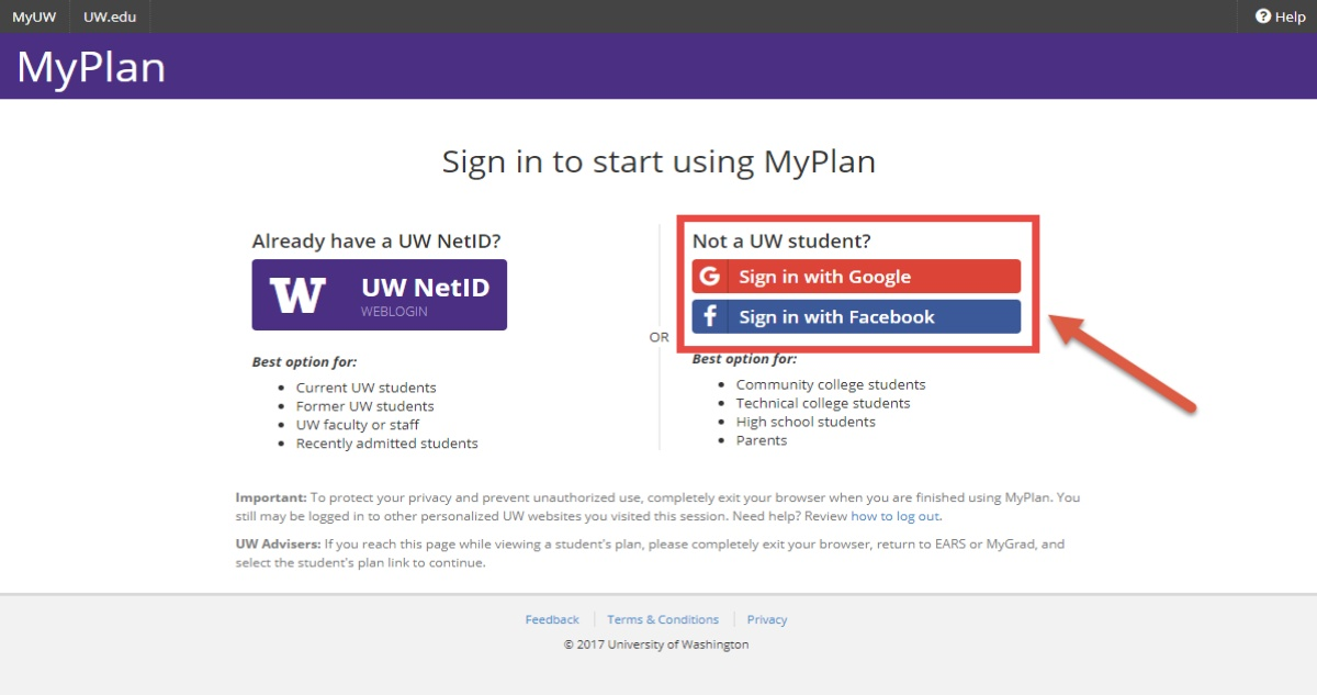 UW Student Portal Login