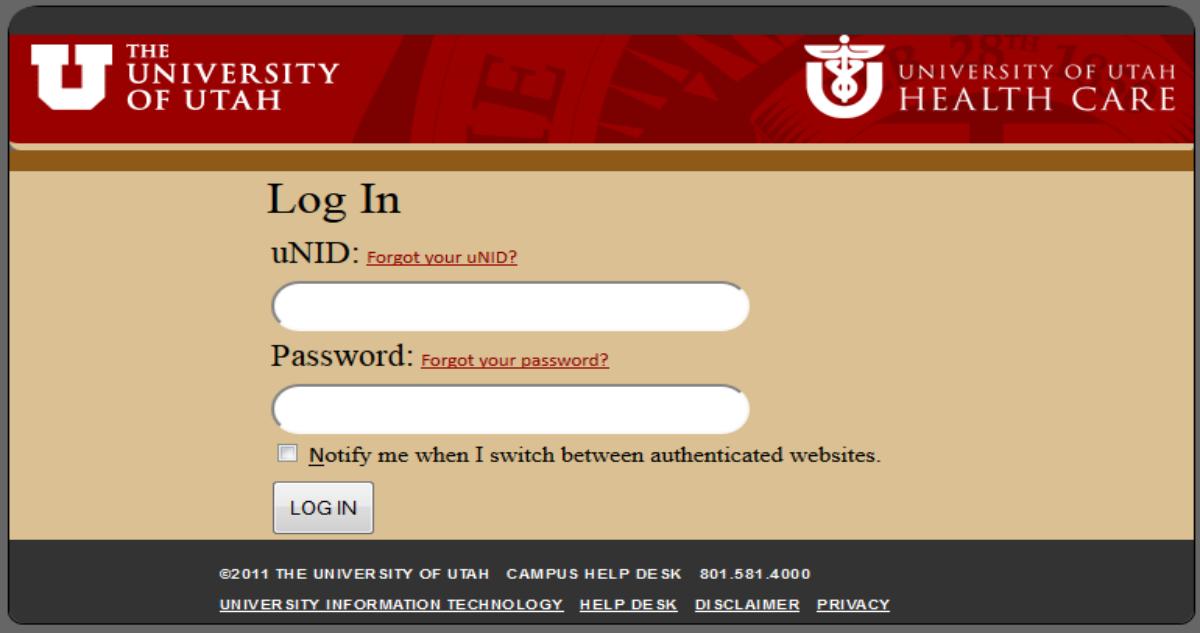 University of Utah Login