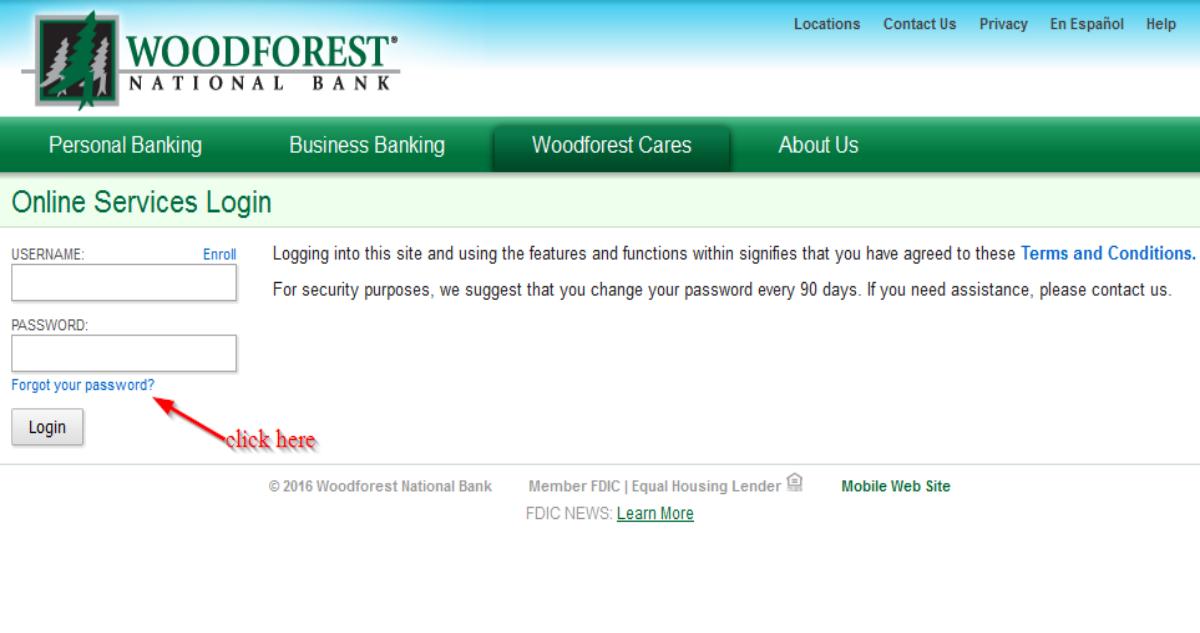 Woodforest Forgot Password