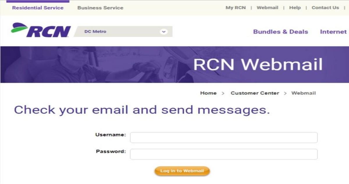 rcn.com webmail login