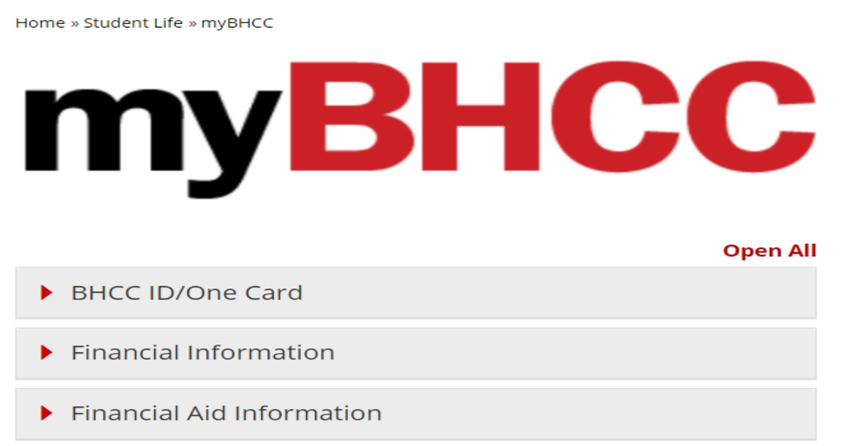 Bhcc Portal