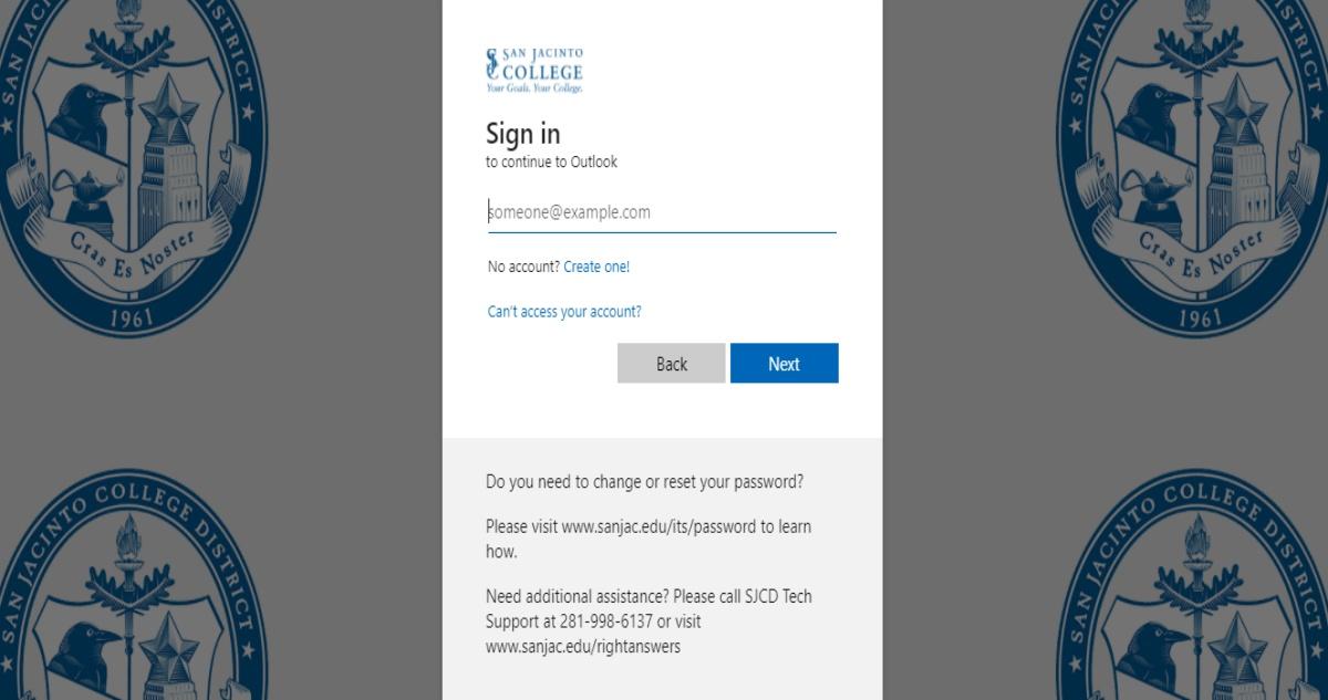 SJCD Edu Email at www.sanjac.edu Portal