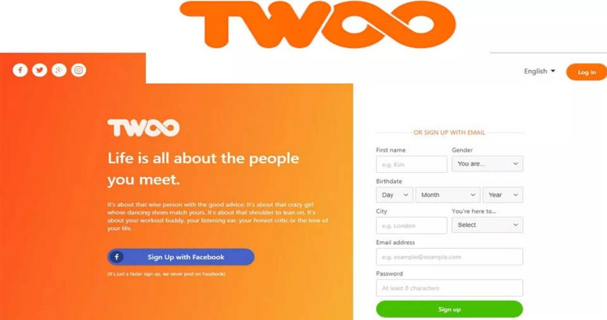 Twoo Login & Sign Up