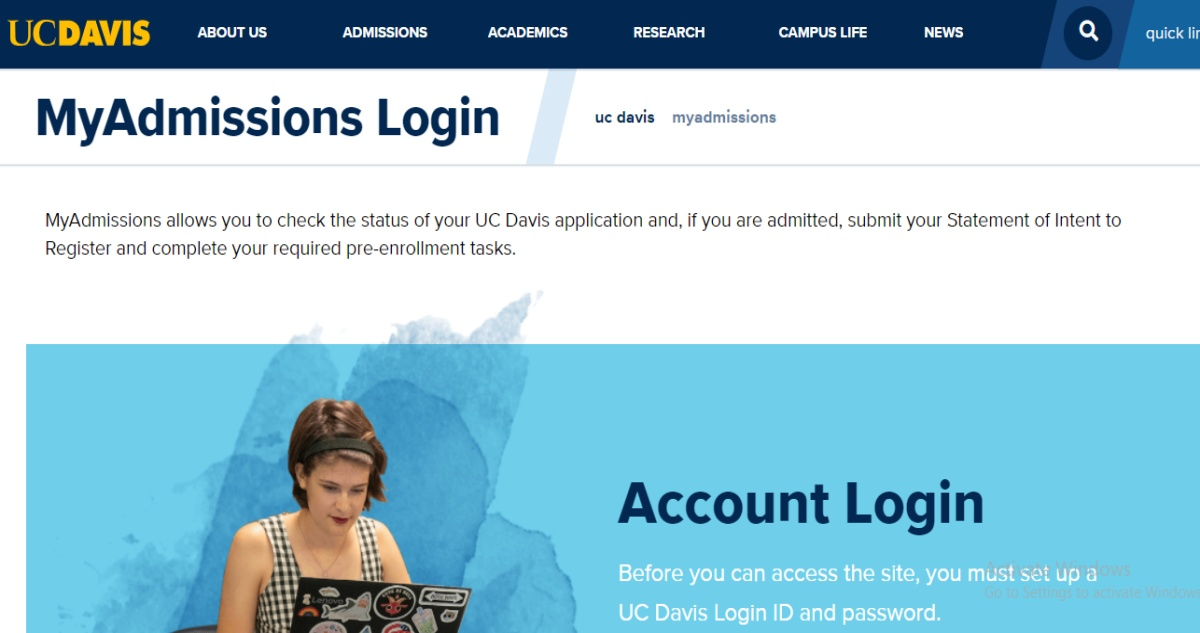 UC Davis Application Status