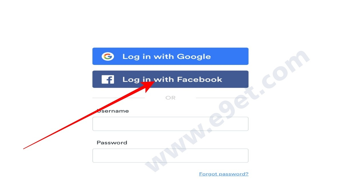 Big Cash login with Facebook