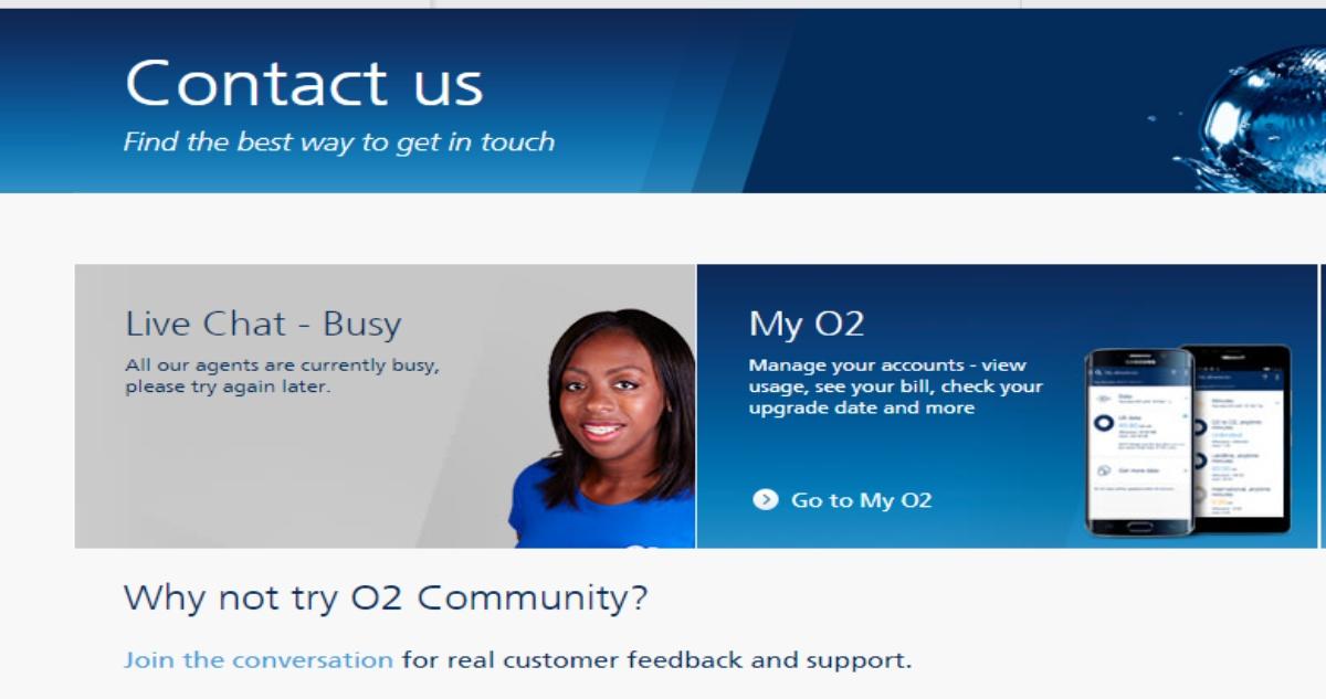 O2 Live Chat Login