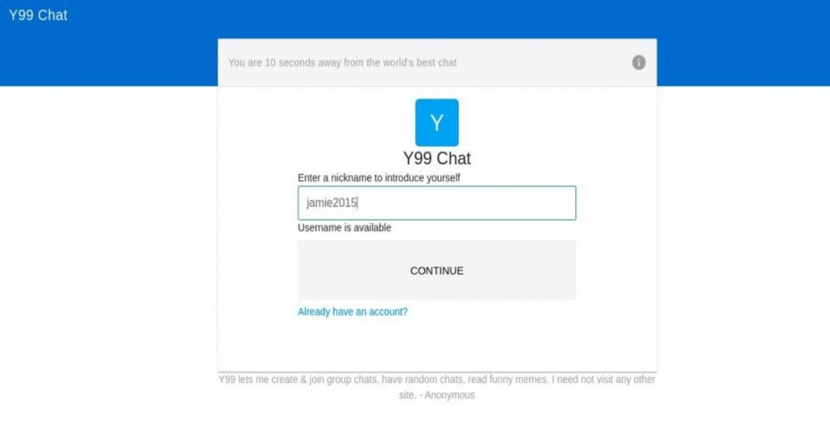 Y99 Chat Login