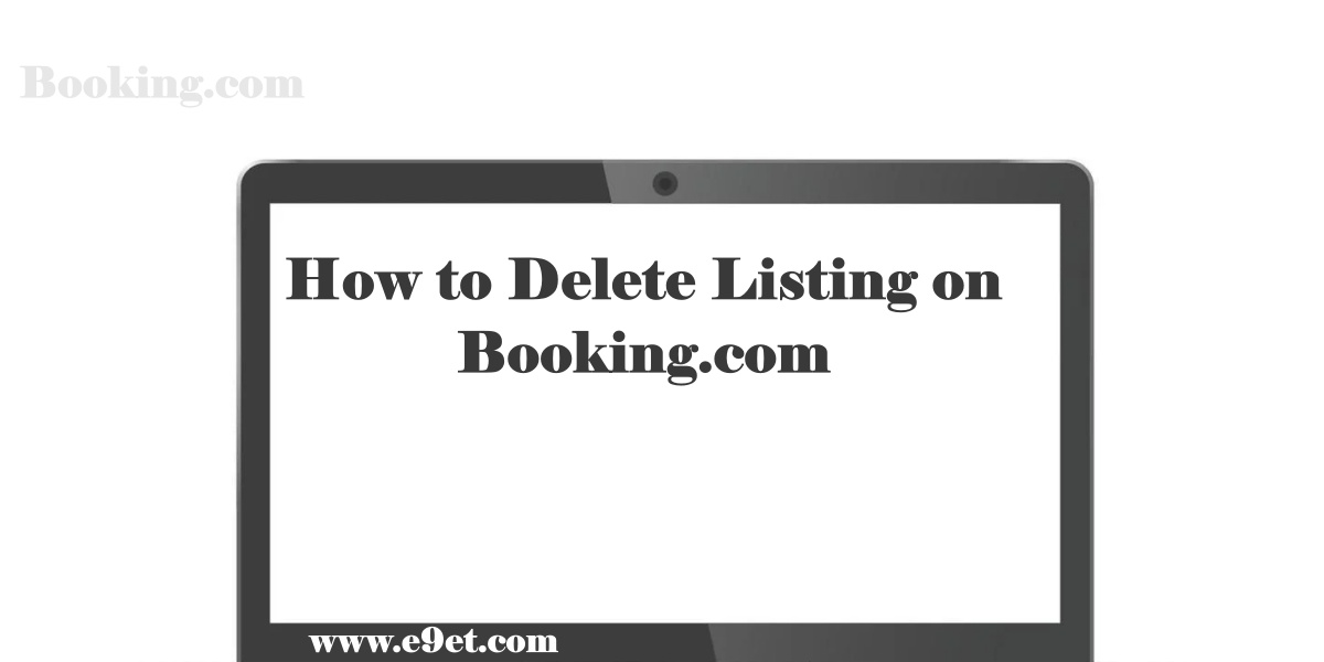 Delete Listing on Booking.com