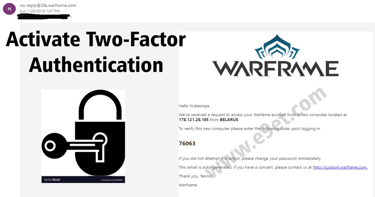 Activate Two-Factor Authentication on Warframe